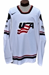 CHRIS KREIDER GAME USED AND WORN 2011 USA HOCKEY IHF WORLD CHAMPIONSHIP JERSEY WITH MEIGRAY USA HOCKEY LOA