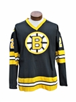 BRAD PARK GAME USED AND WORN 1975 BOSTON BRUINS DUREEN AUTOGRAPHED HOCKEY JERSEY WITH LOA
